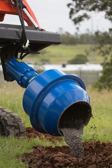 auger torque 180l cement mixer bowl (75mm square earth drill / auger shaft) [attaug] 424569 011