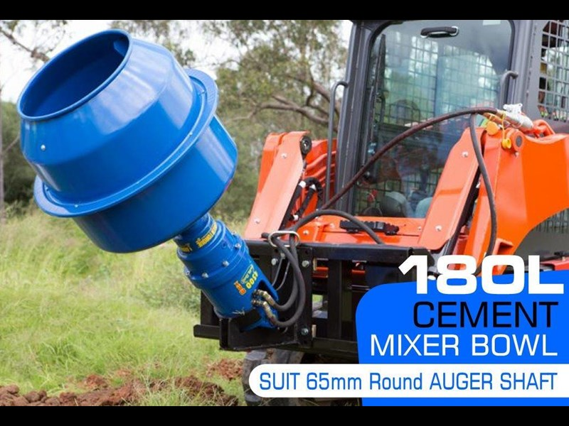 auger torque 180l cement mixer bowl (65mm round earth drill / auger shaft)[attaug] 424705 001