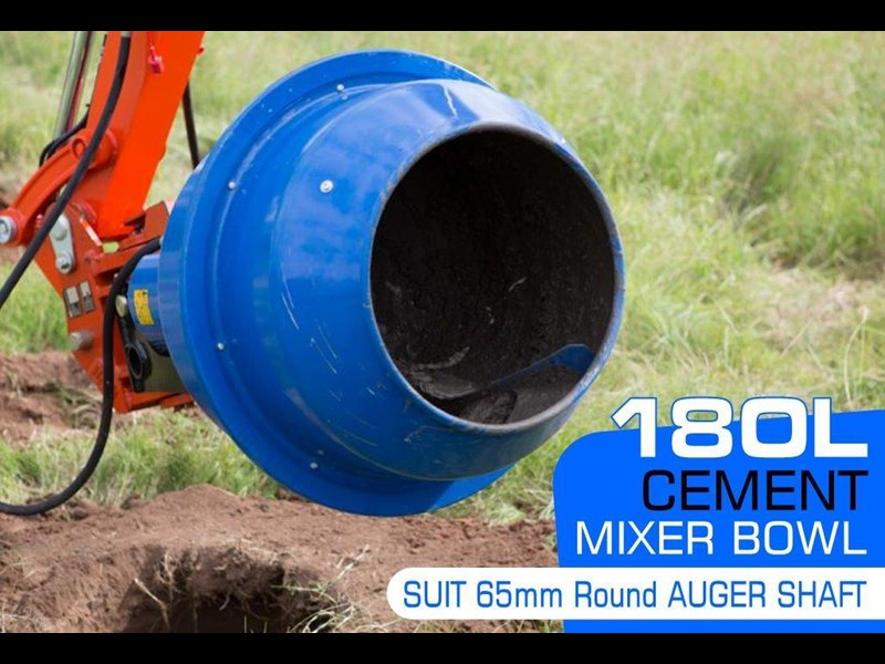 auger torque 180l cement mixer bowl (65mm round earth drill / auger shaft)[attaug] 424705 002