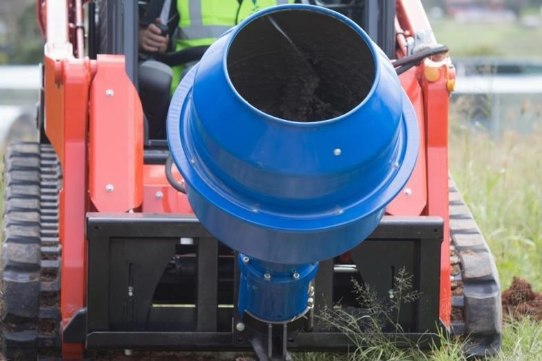 auger torque 180l cement mixer bowl (65mm round earth drill / auger shaft)[attaug] 424705 005