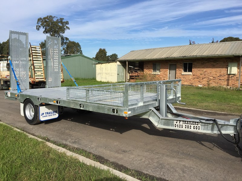jp trailers galvanised mini tag trailer plus brown tipper 425289 017