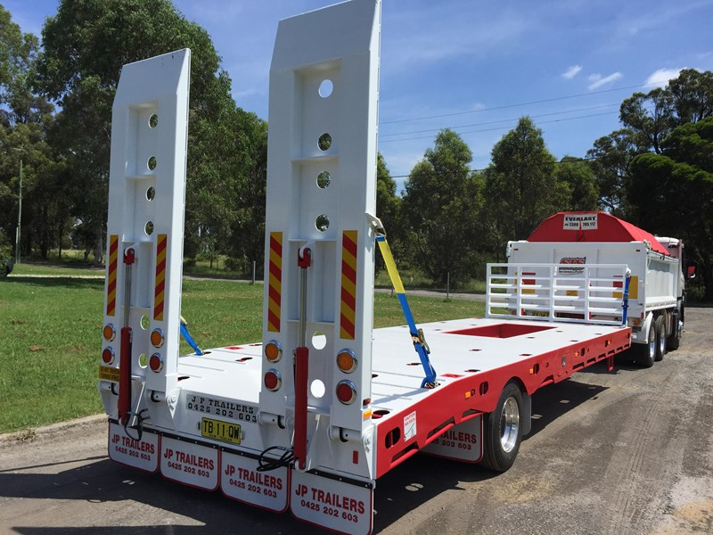 jp trailers red single axel plant trailer 425295 003