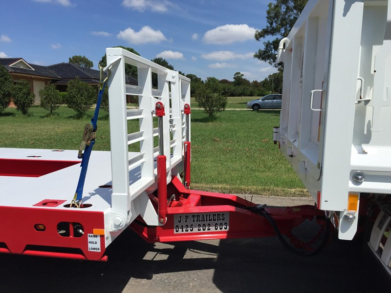 jp trailers red single axel plant trailer 425295 009