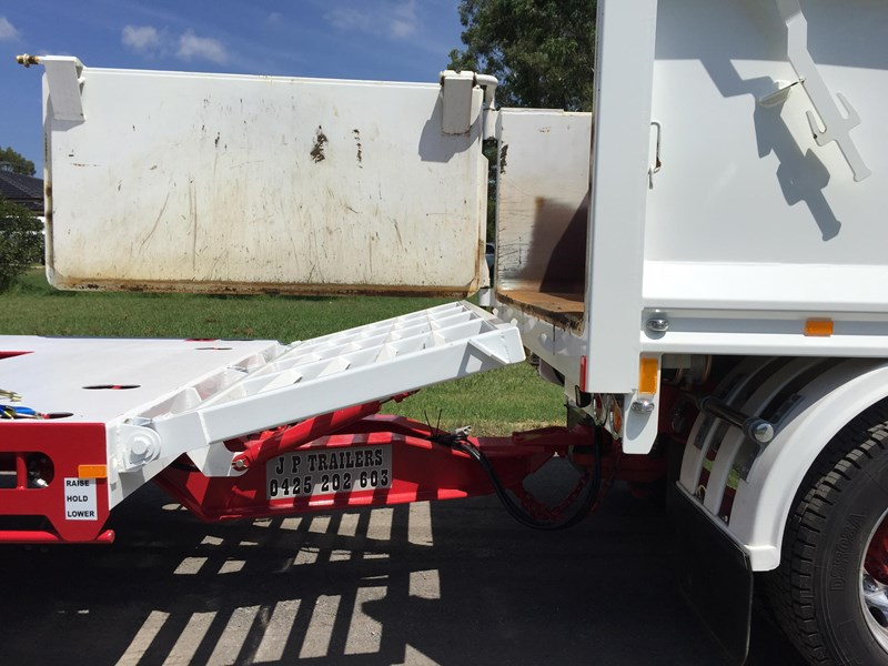 jp trailers red single axel plant trailer 425295 017