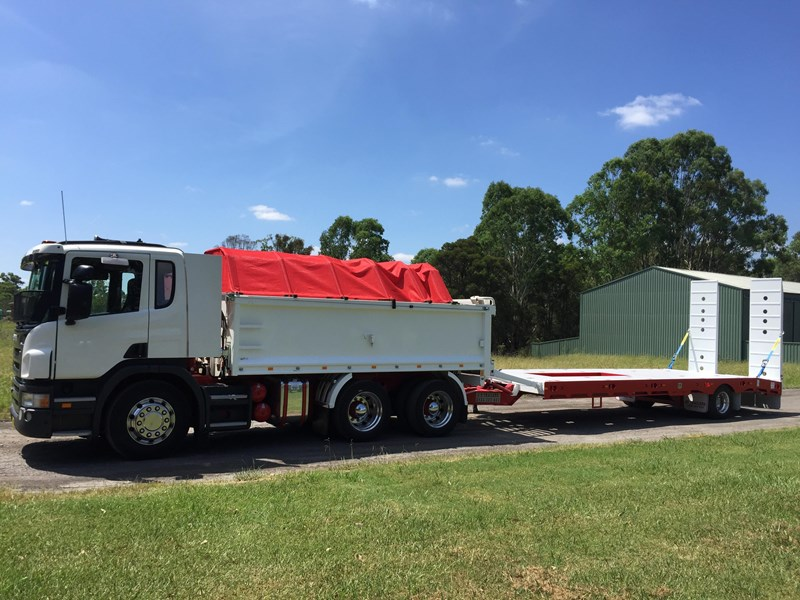 jp trailers red single axel plant trailer 425295 023