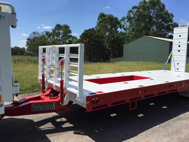 jp trailers red single axel plant trailer 425295 031
