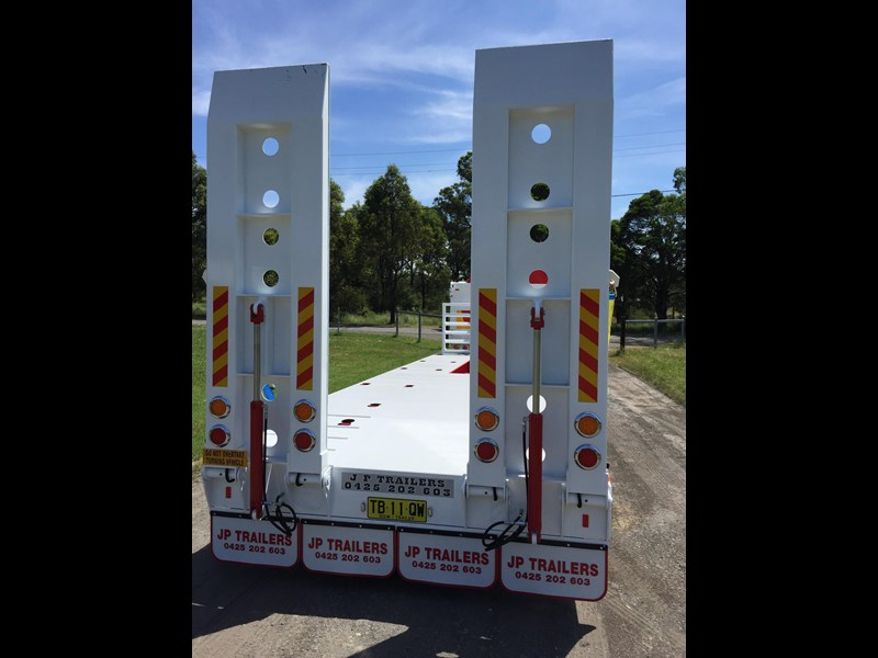 jp trailers red single axel plant trailer 425295 035