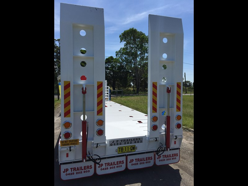 jp trailers red single axel plant trailer 425295 019
