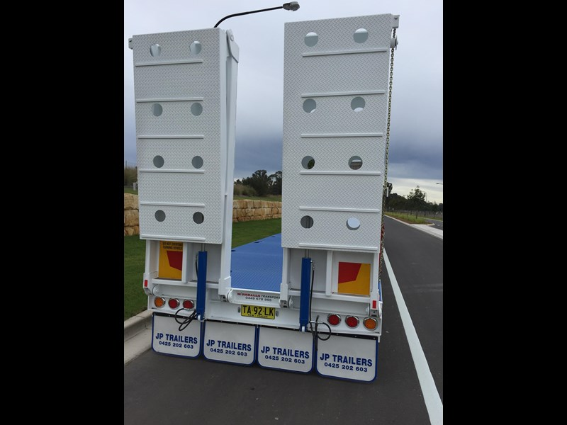 jp trailers tri axel drop deck trailer 425328 003