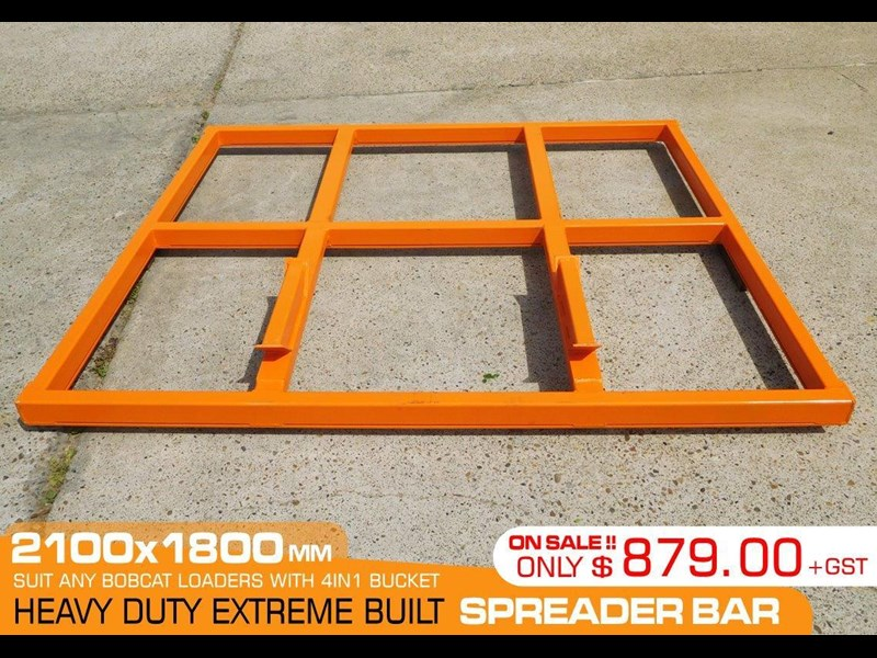 other heavy duty extreme built 2100 mm width levelling bars attachments / 2100mm x 1800mm spreader bars [attbars] 427523 003