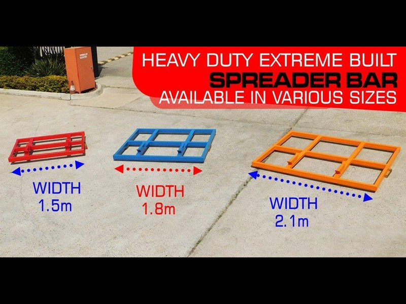 other heavy duty extreme built 1800mm x 1600mm spreader bars / 1800 mm width levelling bars attachments [attbars] 427658 005