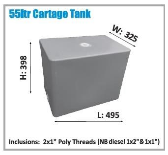 polymate 55 ltr water cartage tank 427656 001