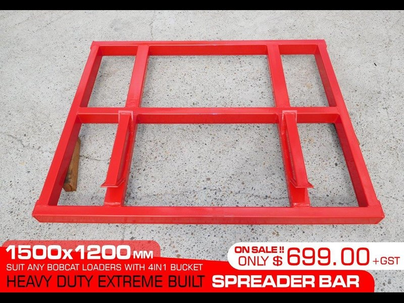 other heavy duty extreme built 1500 mm width levelling bars attachments [attbars] / 1500mm x 1200mm spreader bars 427771 003
