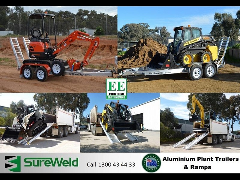 sureweld aluminium loading ramps call everything earthmoving 1300 43 44 33 429553 065