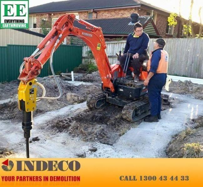 indeco indeco hp150 rock breaker for mini excavators up to 2.5 tonnes 429945 005