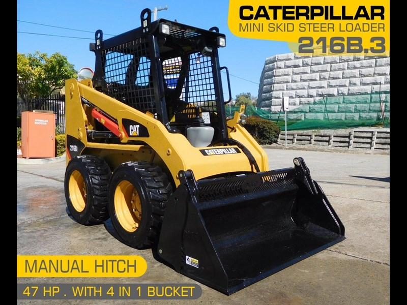 caterpillar #2229 216b.3 cat 216.b3 skid steer loader [47 hp][demo machine with only 172.6 hours] [machcat] 413736 001