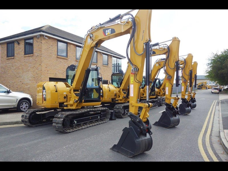 caterpillar #308einc05 308e2.cr 8.4 ton cat 308.e2 steel tracks excavator fitted with rubber pads [unused 8.8 hrs] [machexc] 430253 002