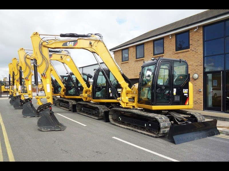caterpillar #308einc04 308e2.cr 8.4 ton cat 308.e2 steel tracks excavator fitted with rubber pads [unused 7.2 hrs] [machexc] 430252 004