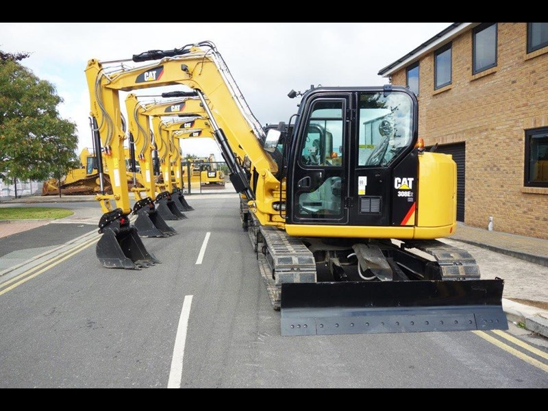 caterpillar #308einc05 308e2.cr 8.4 ton cat 308.e2 steel tracks excavator fitted with rubber pads [unused 8.8 hrs] [machexc] 430253 004
