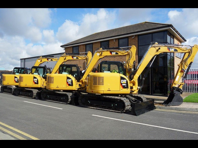 caterpillar #308einc05 308e2.cr 8.4 ton cat 308.e2 steel tracks excavator fitted with rubber pads [unused 8.8 hrs] [machexc] 430253 005