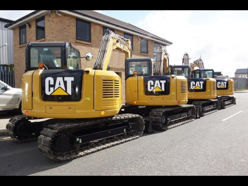 caterpillar #308einc05 308e2.cr 8.4 ton cat 308.e2 steel tracks excavator fitted with rubber pads [unused 8.8 hrs] [machexc] 430253 006