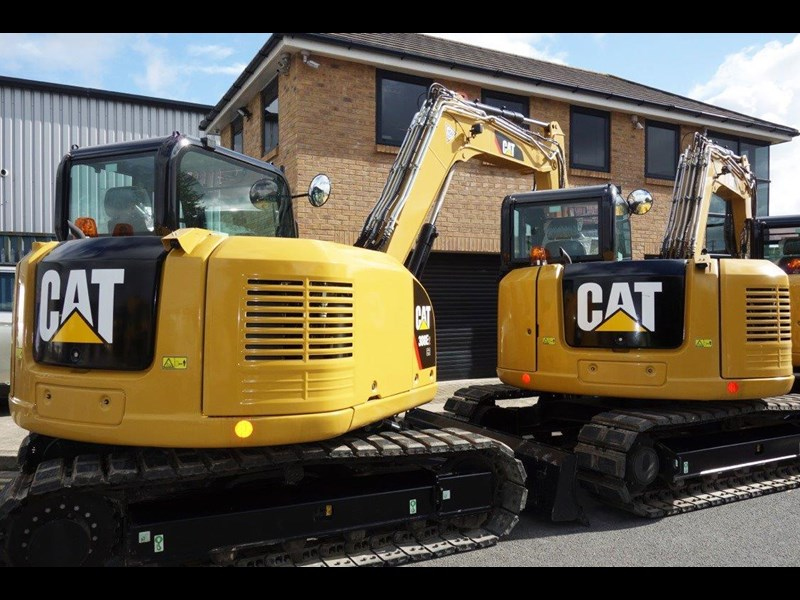 caterpillar #308einc05 308e2.cr 8.4 ton cat 308.e2 steel tracks excavator fitted with rubber pads [unused 8.8 hrs] [machexc] 430253 007