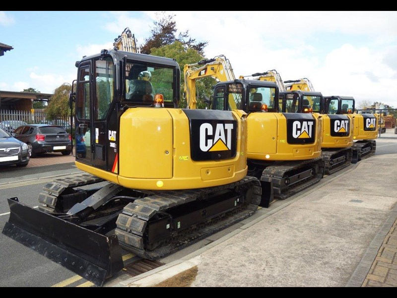 caterpillar #308einc05 308e2.cr 8.4 ton cat 308.e2 steel tracks excavator fitted with rubber pads [unused 8.8 hrs] [machexc] 430253 008