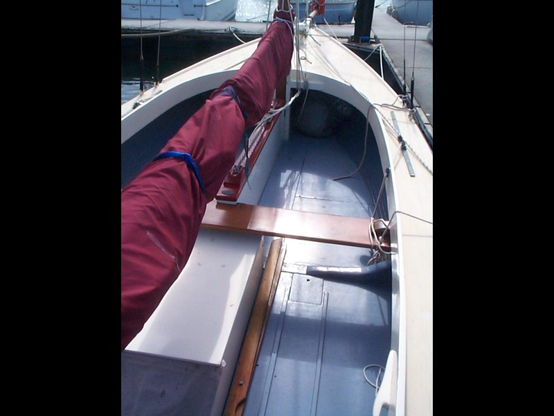 wooden yacht 29' timber netting boat 432162 007