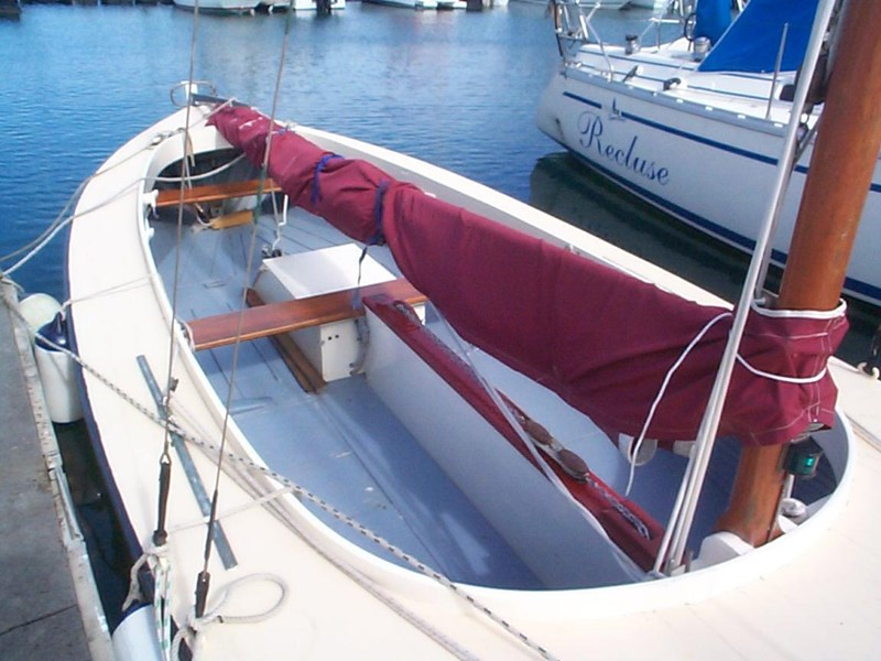 wooden yacht 29' timber netting boat 432162 009