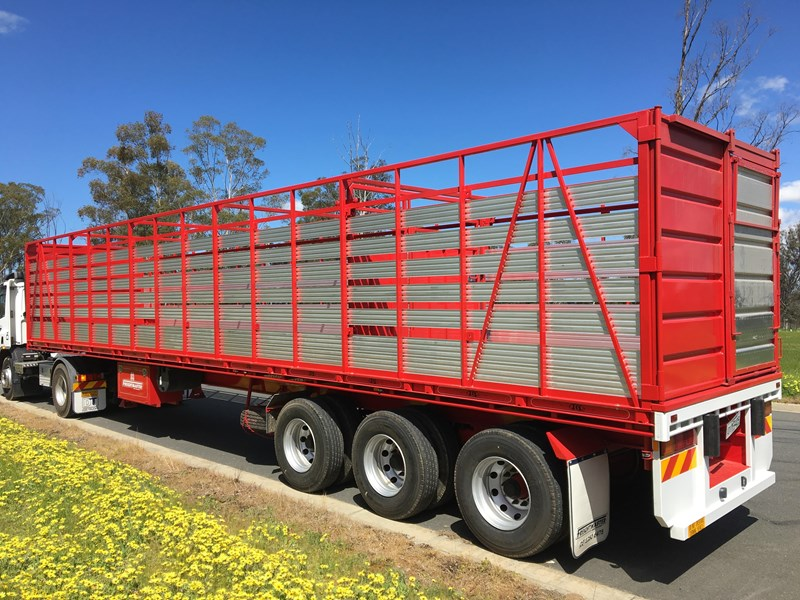 freightmaster st3 45' flat top semi trailer with removable stock crate 432939 011