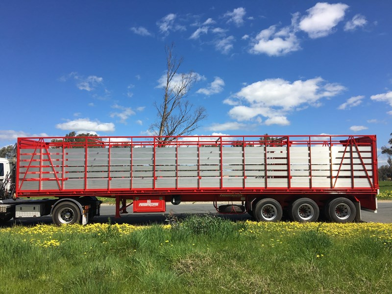 freightmaster st3 45' flat top semi trailer with removable stock crate 432939 013