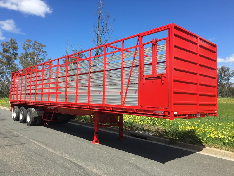 freightmaster st3 45' flat top semi trailer with removable stock crate 432939 015