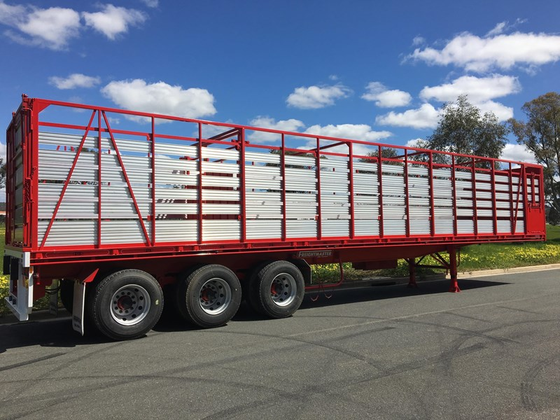 freightmaster st3 45' flat top semi trailer with removable stock crate 432939 019