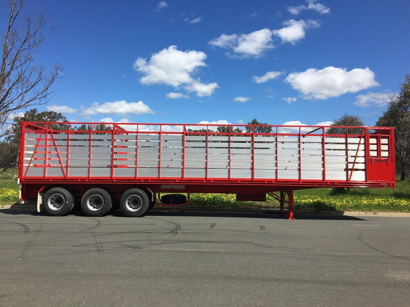 freightmaster st3 45' flat top semi trailer with removable stock crate 432939 021