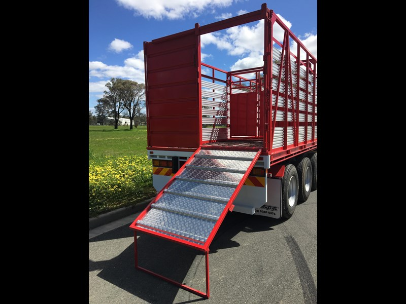 freightmaster st3 45' flat top semi trailer with removable stock crate 432939 025