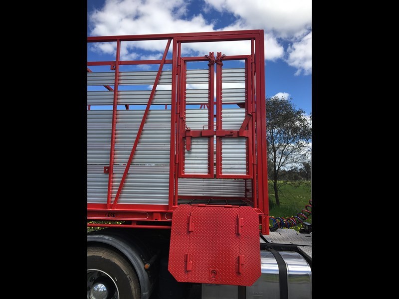 freightmaster st3 45' flat top semi trailer with removable stock crate 432939 031