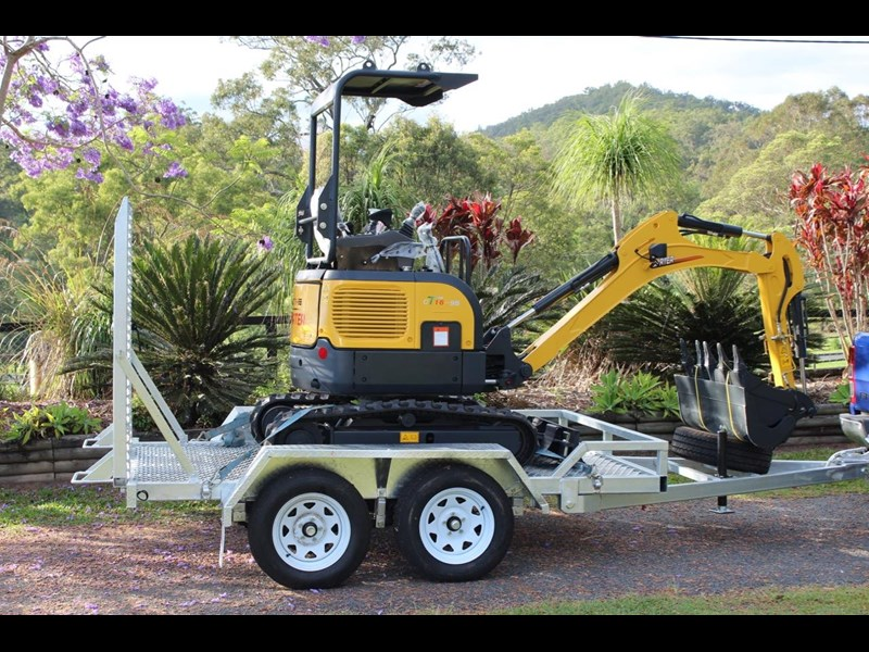 carter ct16 mini excavator with trailer 433547 005