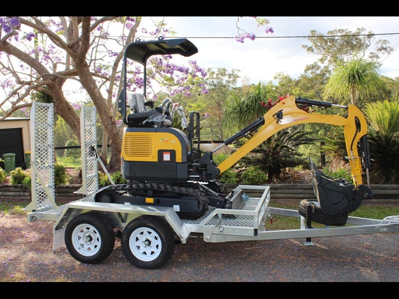 carter ct16 mini excavator with trailer 433547 009