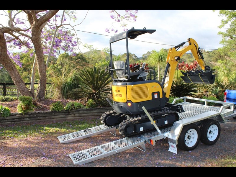 carter ct16 mini excavator with trailer 433547 015