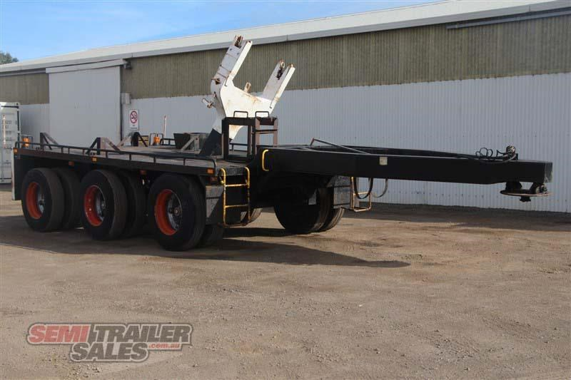 midland tri axle dolly jinker semi trailer with centre mount crane 435282 002
