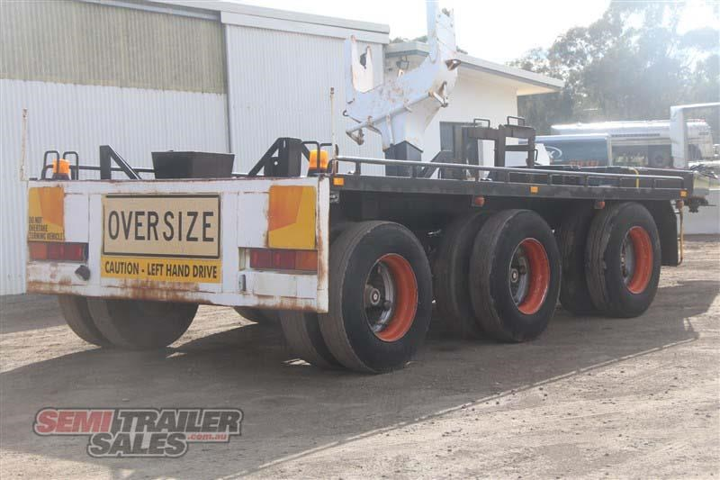 midland tri axle dolly jinker semi trailer with centre mount crane 435282 003