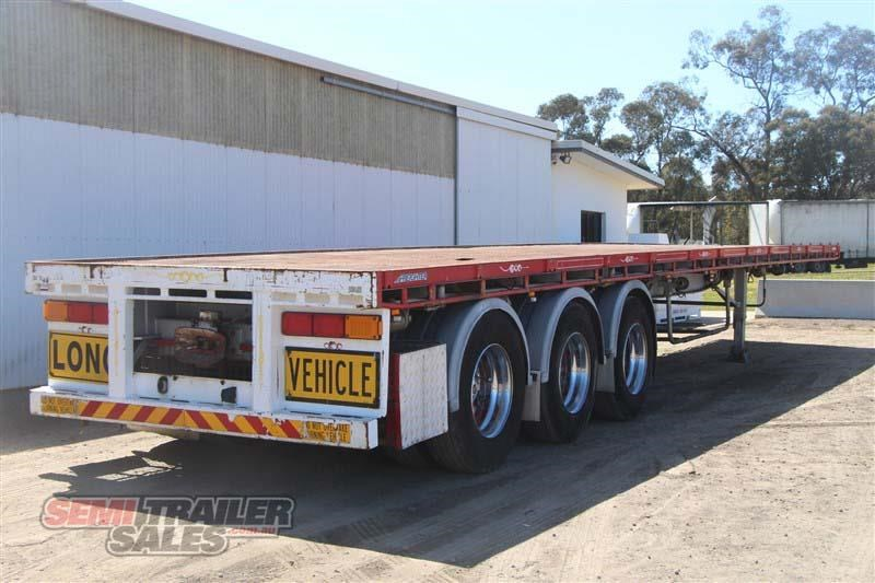 maxitrans 45ft flat top road train rated semi trailer with 3 way pins 435674 003