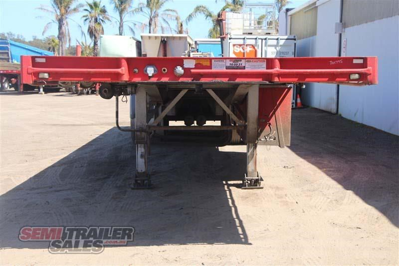 maxitrans 45ft flat top road train rated semi trailer with 3 way pins 435674 004