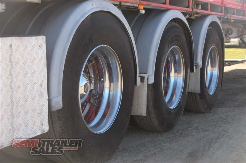 maxitrans 45ft flat top road train rated semi trailer with 3 way pins 435674 007