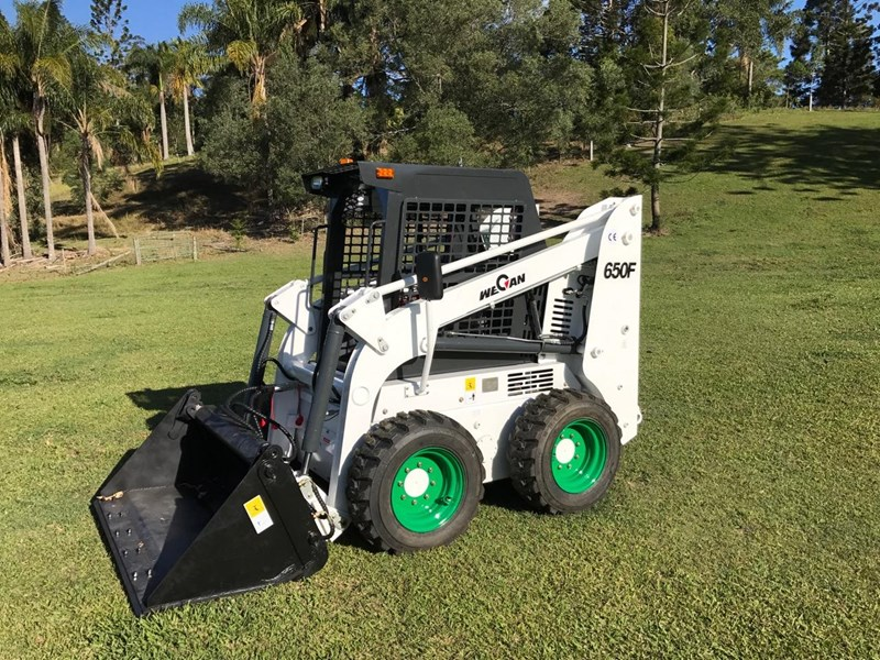 wecan skid steer loader with 4 in 1 bucket 436478 010