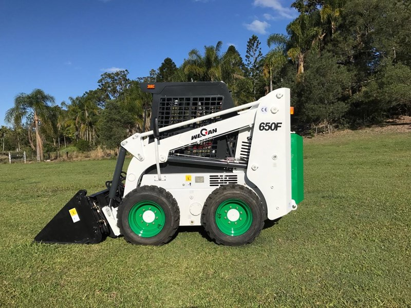 wecan skid steer loader with 4 in 1 bucket 436478 011