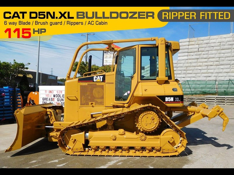 caterpillar #2217d cat d5 dozer d5n.xl bulldozer with ac cab & brush guard [low hours] [machdoz] 436684 001
