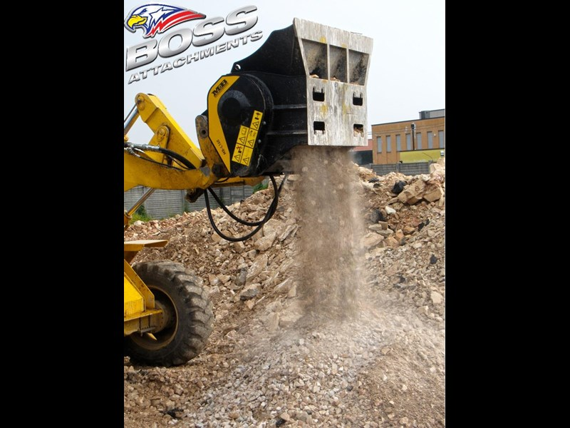 mb l-140 skid/loader crusher bucket by boss attachments 347350 029