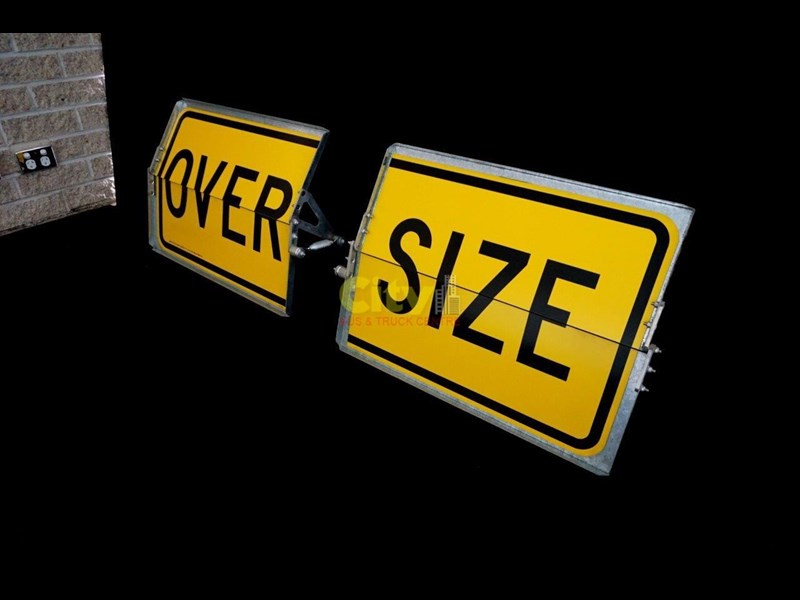 """over size"" signs folding type 436816 007"