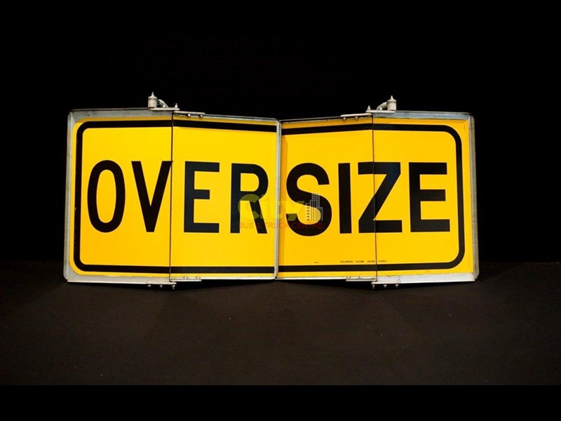 """over size"" signs folding type 436816 003"